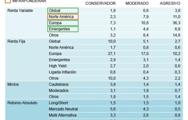 Composición de las carteras de fondos de los inversores españoles