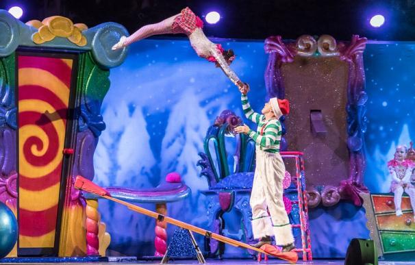 Fotografía de acróbatas de Le Cirque du Soleil.