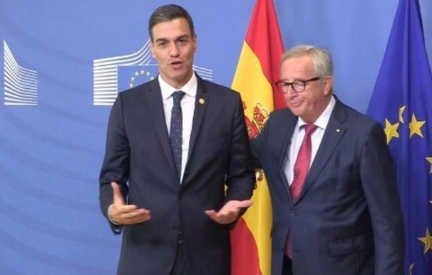 Pedro Sánchez y Jean Claude Juncker / EFE