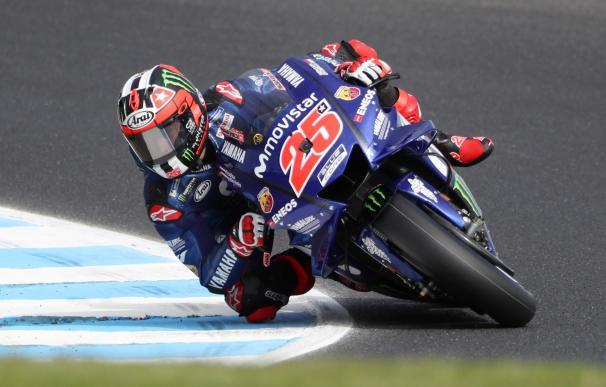 l piloto español de MotoGP Maverick Viñales, Movistar Yamaha,