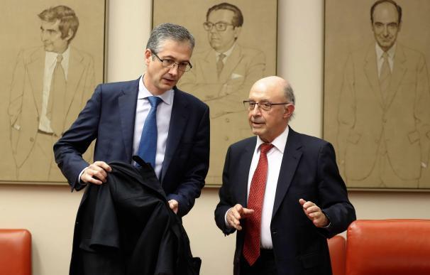 Pablo Hernández de Cos y Cristóbal Montoro / EFE