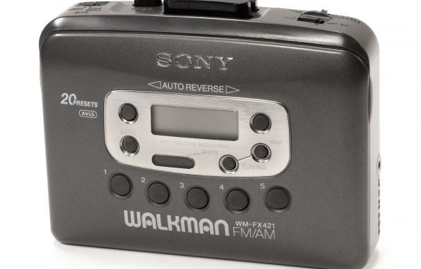 Fotografía de un Walkman antiguo de Sony.