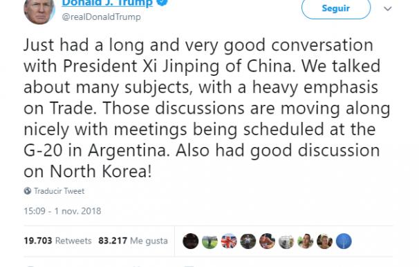 Trump avanza el fin de la guerra comercial con China