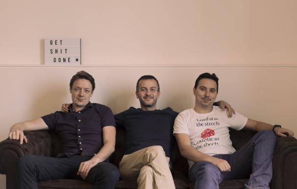 Nacho González-Barros (en el centro), junto con el resto de cofundadores.