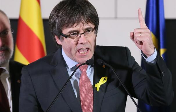 Carles Puigdemont, tras conocer el resultado de las elecciones en Cataluña