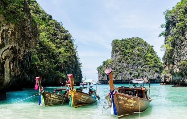 Fotografía de la isla de Phuket Koh Phi en Tailandia.