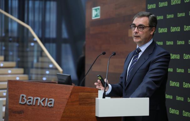 El consejero delegado de Bankia, José Sevilla, presenta en Madrid los resultados