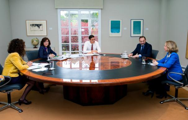 Reunión hipotecas en Moncloa