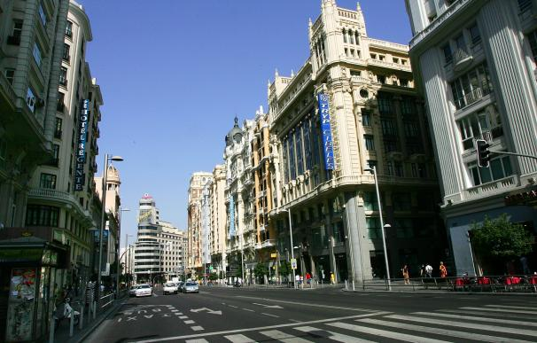 Gran Vía, una de las arterias afectadas por la nueva 'Madrid Central'