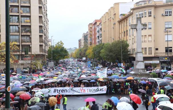 Miles de personas han mostrado su hartazgo por la situación de este medio de transporte (Foto: Junta de Extremadura)