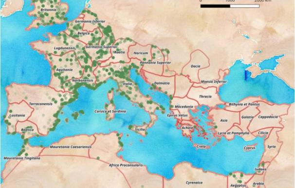 Las rutas comerciales de Roma (Foto: Gencat)