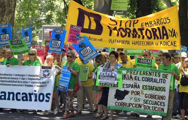Protestas contra los abusos de la banca en distintos puntos de España