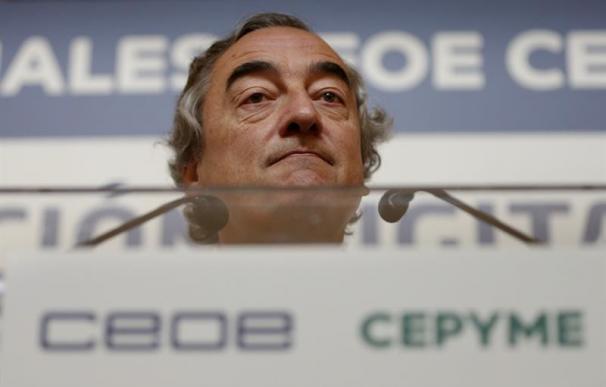 El presidente de la CEOE, Juan Rosell | EFE