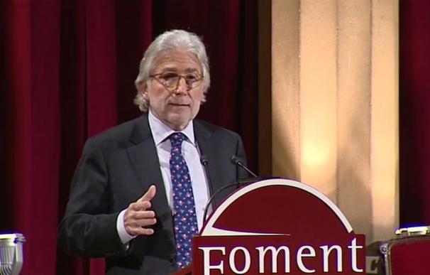 Josep Sánchez Llibre, tras ser elegido nuevo presidente de Foment del Treball, la principal patronal catalana. EFE/Toni Albir