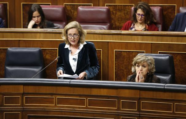 Nadia Calviño, satisfecha con la valoración de Bruselas