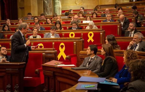 """Torra asegura que """"el sistema judicial español está en una situación de desprestigio absoluto""""."""