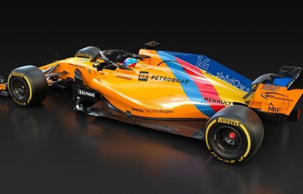 Coche de Fernando Alonso en su despedida del 'circo' de la Fórmula 1.