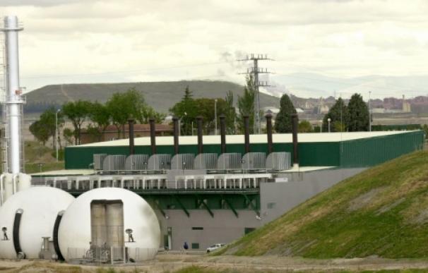 Planta de producción de energía eléctrica a partir del biogás de Valdemingómez (Madrid).