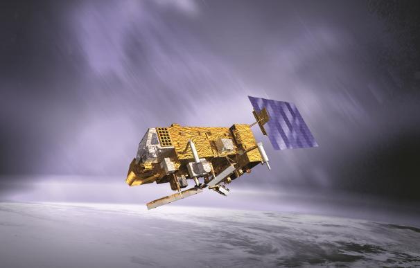 Recreación artística del satélite MetOp-B. (Imagen: ESA/Eumetsat)