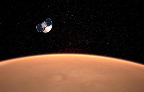 La nave espacial InSight aterrizará este lunes en Marte.