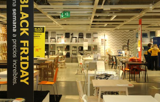 Interior de una tienda de Ikea.