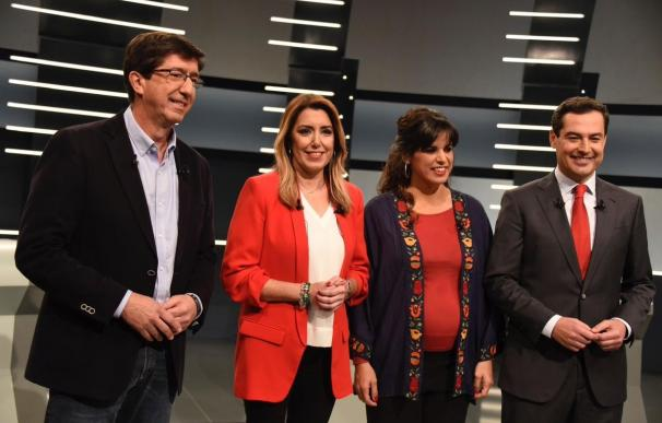 Marín, Díaz, Rodríguez y Moreno listos para el debate a cuatro de RTVE