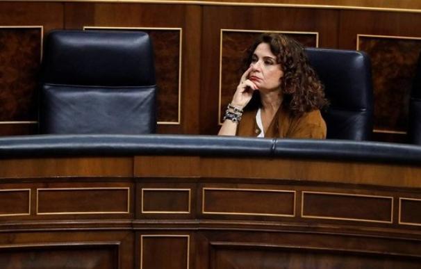 La ministra de Hacienda, María Jesús Montero, en el Congreso / EFE