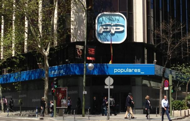 La sede nacional del PP en la calle Génova de Madrid