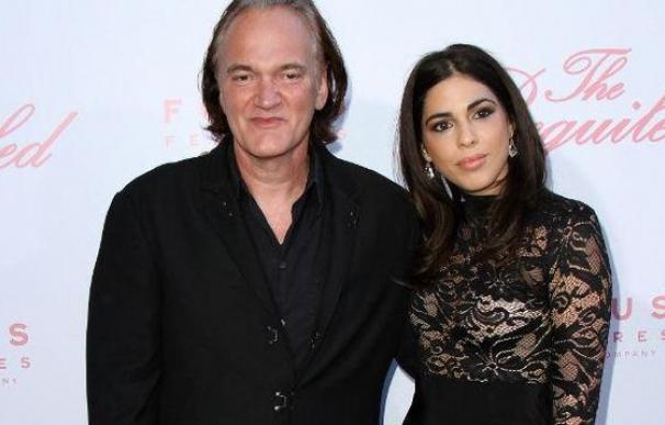 Quentin Tarantino y su ya esposa Daniella Pick