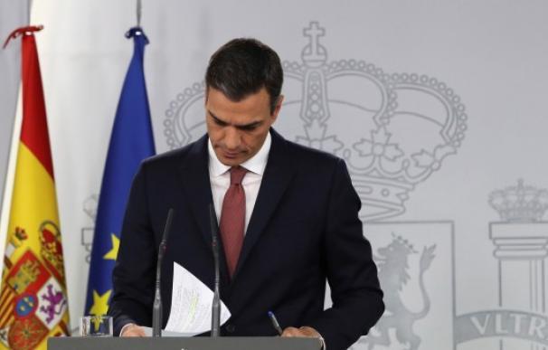 Pedro Sánchez consultando unos papeles / EFE