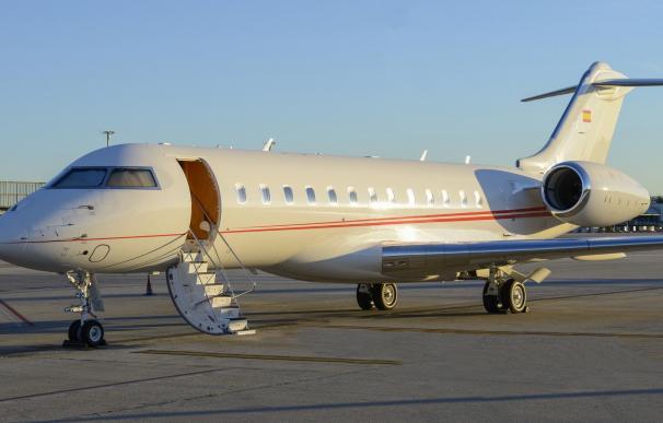 El avión de Banco Santander, fabricado por Bombardier.