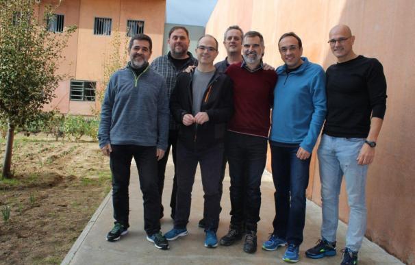 Los líderes independentistas en la cárcel de Lledoners