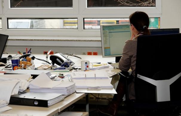 Fotografía de una secretaría.
