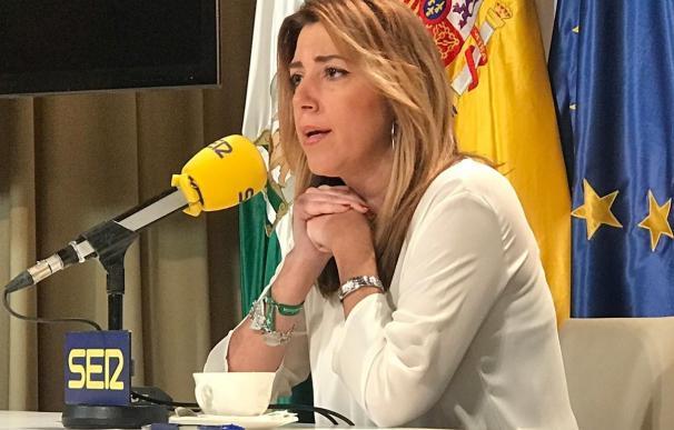 Susana Díaz afirma que cuenta con el apoyo de Sánchez.