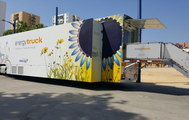 El camión sostenible Energytruck de la Fundación Naturgy