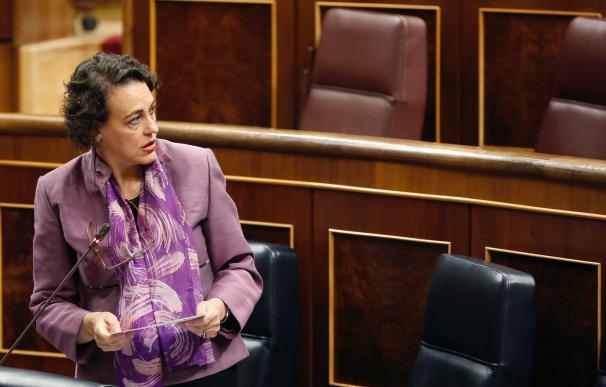 Fotografía Magdalena Valerio, sola en el Congreso / EFE