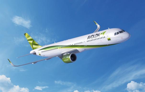 Una recreación de un A321neo con el emblema de Avolon