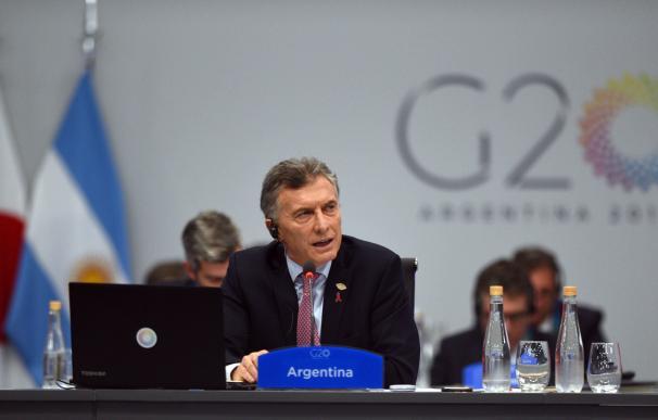 El presidente argentino, Mauricio Macri, durante la plenaria de la segunda y última jornada de la cumbre de líderes del G20 (EFE)
