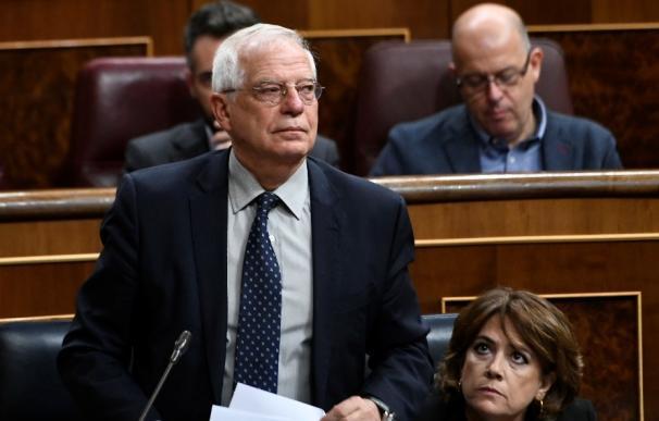 José Borrell, en la sesión de control