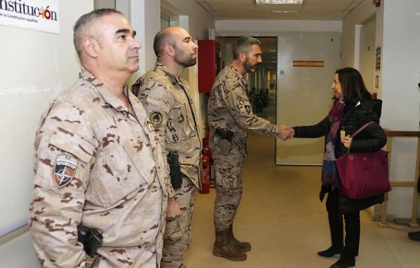 La ministra de Defensa, Margarita Robles, en Afganistán