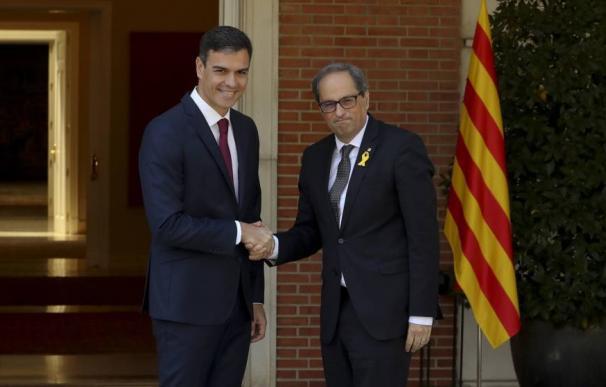 Pedro Sánchez y Quim Torra / EFE