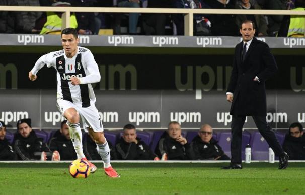 Fotografía de Cristiano Ronaldo en un partido con la Juventus.