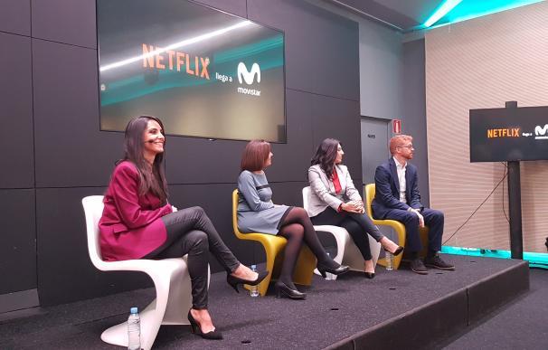 Presentación de Netflix en la sede principal de Telefónica