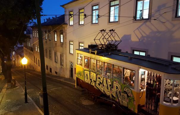 Ascensor de Gloria en Lisboa.