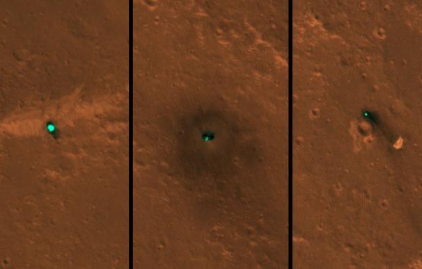 La NASA publica las primeras imágenes de la nave InSight en la órbita de Marte.