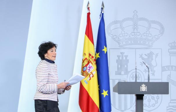 Isabel Celaá comparece en Moncloa tras la intervención de Quim Torra en el Palam