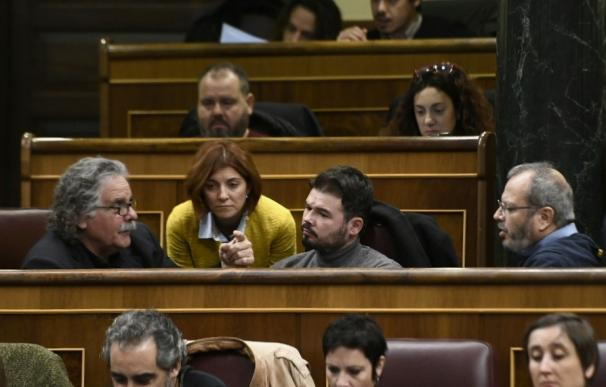 Diputados de ERC en el Congreso de los Diputados (Oscar del Pozo - Europa Press)