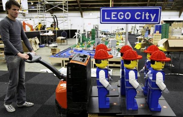 Fotografía de figuras de Lego