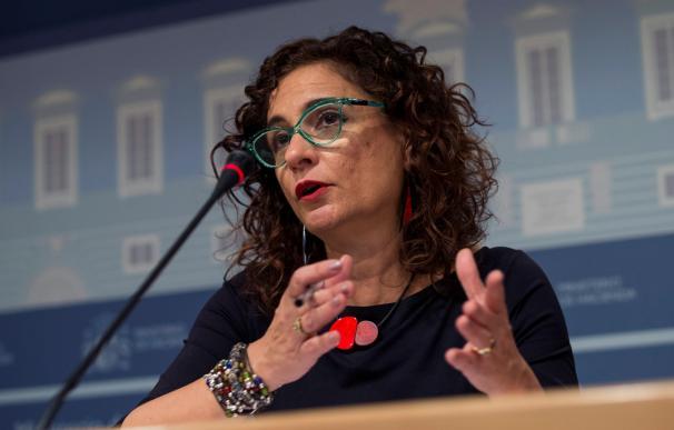 La ministra de Hacienda, María Jesús Montero, en el Ministerio / EFE