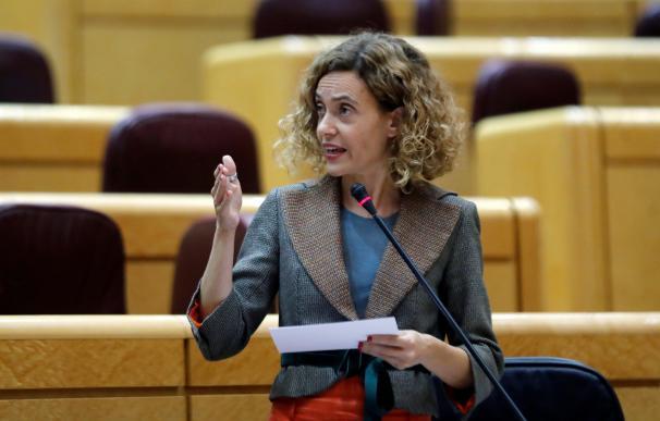 La ministra de Política Territorial y Función Pública, Meritxell Batet, interviene en la sesión de control al Gobierno del Senado (EFE/ Juan Carlos Hidalgo)